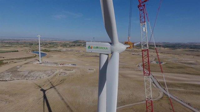 Zaragoza.- Iberdrola inicia la instalación de los aerogeneradores en el parque eólico El Pradillo