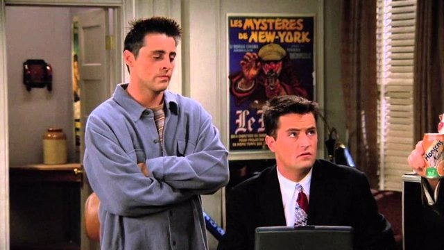 Joey y Chandler en Friends