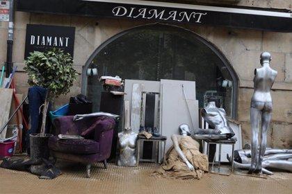 Una campaña recauda 20.000 euros para los comercios afectados por las inundaciones en Tafalla