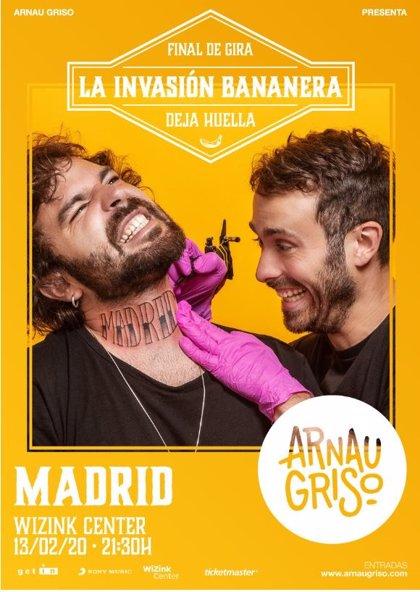 Arnau Griso anuncian concierto en el WiZink Center de Madrid el 13 de febrero de 2020