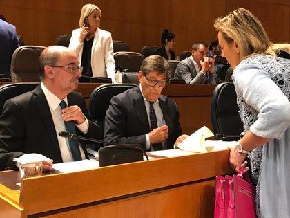 """Lambán dice que su Gobierno no está inactivo, sino que trabaja por """"un Aragón más social, verde y digital"""""""