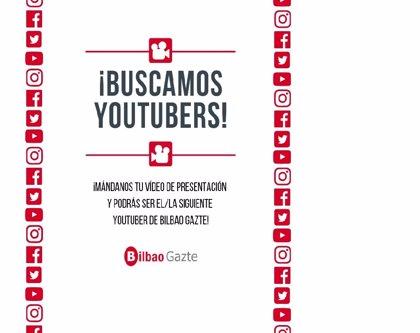 Bilbao abre este viernes el plazo par elegir a dos youtubers que difundirán la oferta de ocio juvenil de la Villa