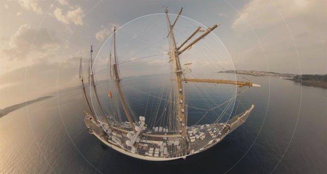 Imagen del documental en vídeo inmersivo 'Tras la estela de Elcano: una travesía en 360º' creado por RTVE.