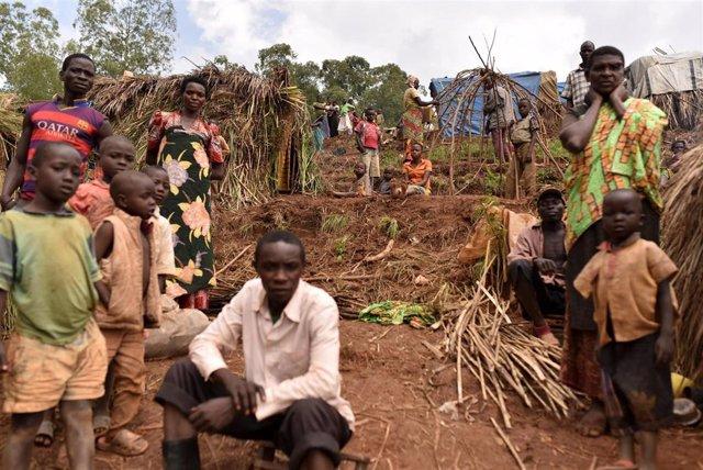 Desplazados por la violencia en Ituri