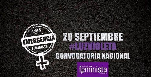 Convocatoria para el 20 de septiembre 'Emergencia feminista'
