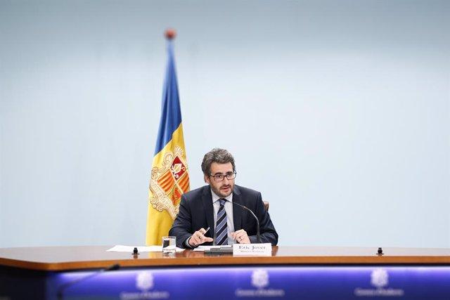 El ministre portaveu d'Andorra, Èric Jover