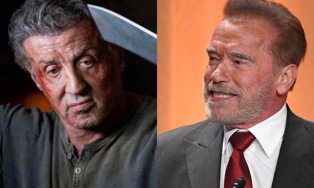 Sylvester Stallone y Arnold Schwarzenegger, compañeros de acción