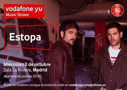 Estopa, gratis para clientes de Vodafone el 2 de octubre en Madrid