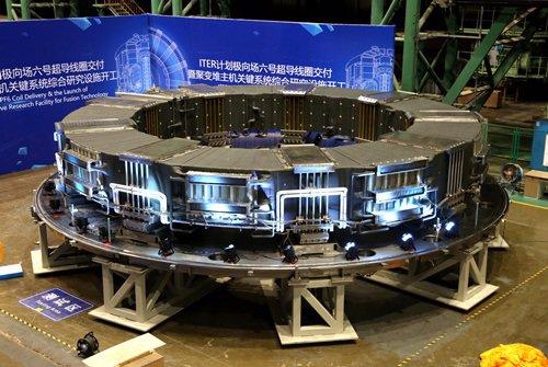 Aspecto del PF6, la superbobina para el reactor ITER