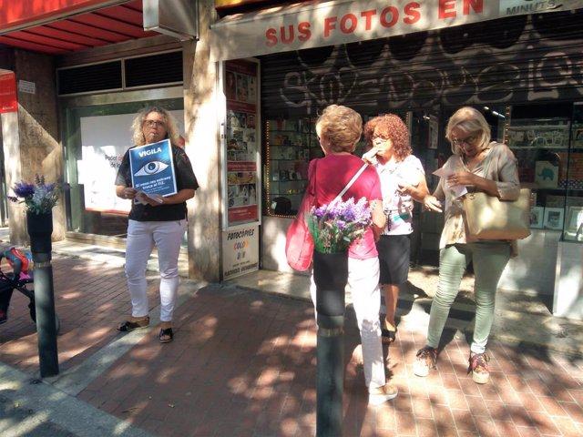 Protesta de comerciants del barri barceloní de Sant Antoni