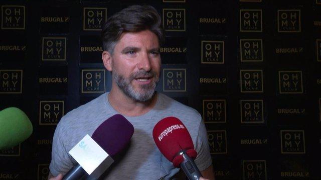 Toño Sanchís en la fiesta de una conocida discoteca de Madrid