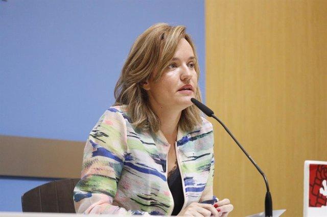 La portavoz del grupo municial del PSOE, Pilar Alegría