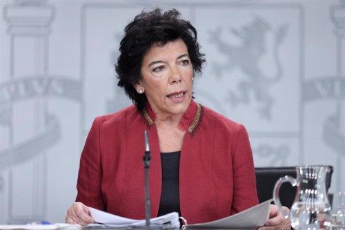 La ministra Portavoz, y de Educación y Formación Profesional en funciones, Isabel Celaá.