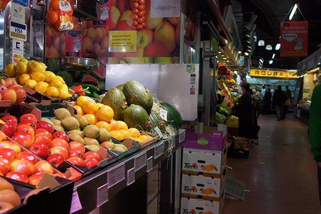 Recurso para mercados, alimentación, comida, fruta