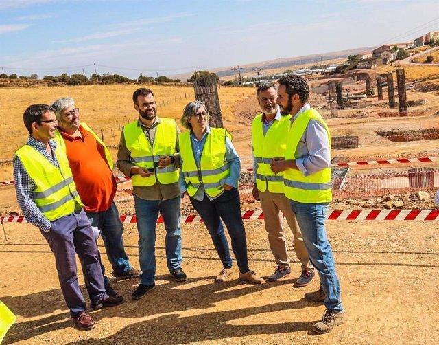 Visita de autoridades a las obras de la Ronda Sureste