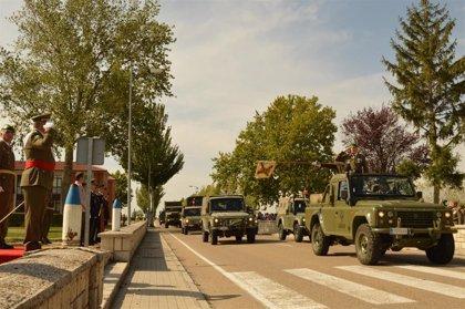 La Agrupación de Apoyo Logístico número 61 celebra sus 31 años con una parada militar en la base de 'El Empecinado'