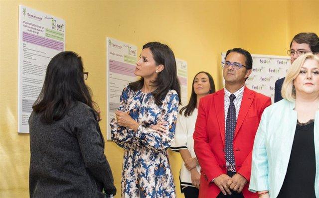 La Reina Doña Letizia en el Centro de Referencia Estatal de Atención a las personas con enfermedades raras (CREER), en Burgos, a 20 de septiembre de 2019.