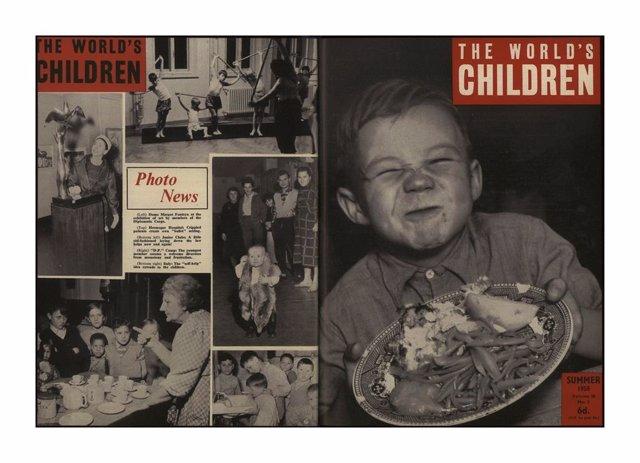 Una de las fotografías de la exposición de Save The Children 'La infancia marca. Cien años defendiendo los derechos de los niños y las niñas'