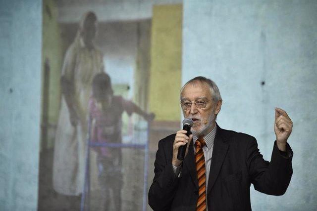 El director general de la Fundación Vicente Ferrer, Jordi Folgado Ferrer, interviene en la celebración del 50 aniversario de la fundación que dirige, en Madrid (España), a 20 de septiembre de 2019.