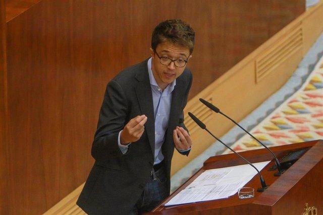 Imagen de archivo del portavoz de MásMadrid en la Asamblea de Madrid, Íñigo Errejón.