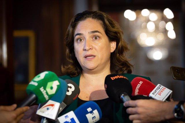 L'alcaldesa de Barcelona, Ada Colau, es pronuncia sobre les declaracions del dia anterior del presidente del Govern central en funciones, 20 de setembre del 2019.