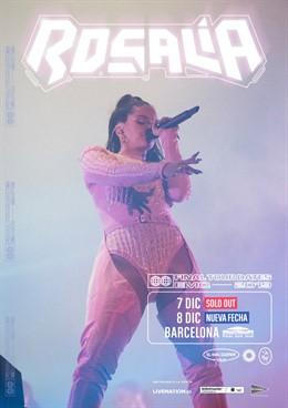 Cartell dels concerts de Rosalía a Barcelona i Madrid