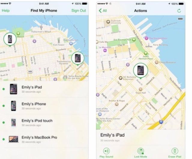 Aplicación 'Find My' de Apple para iPhone y iPad