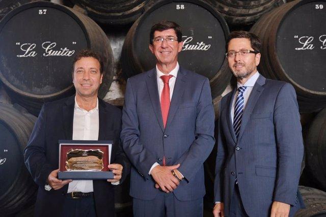 El  vicepresidente y consejero de Turismo, Juan Marín, en los actos de conmemoración del V Centenario de la Primera Vuelta al Mundo.