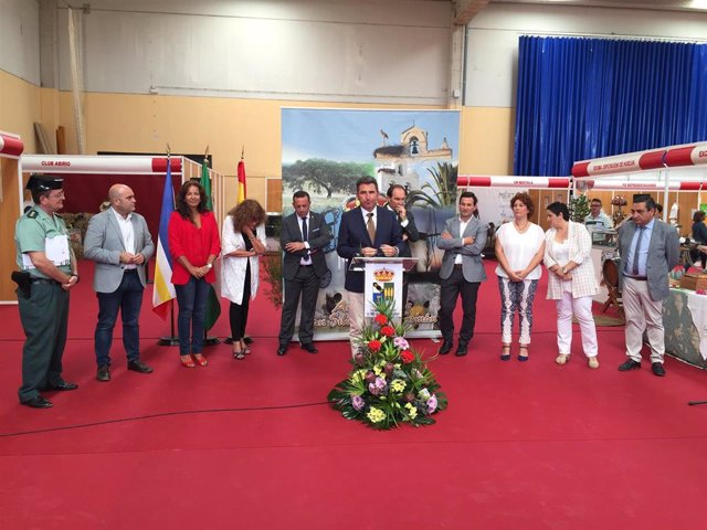 Inauguración de la Feria Cinegética de San Silvestre de Guzmán (Huelva).