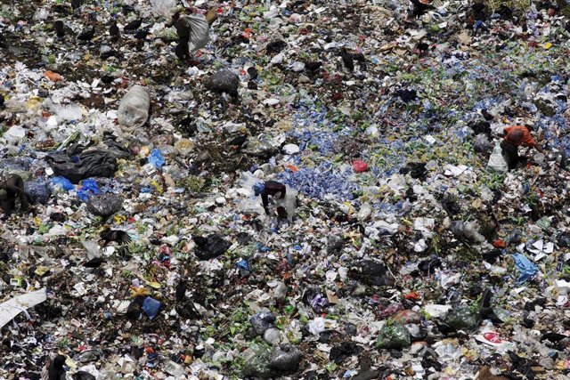 Vertedero de basura en Guatemala