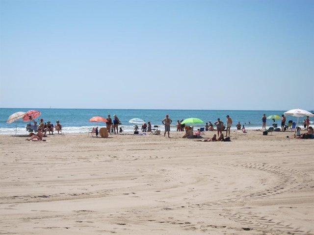 Imatge d'una platja de València.