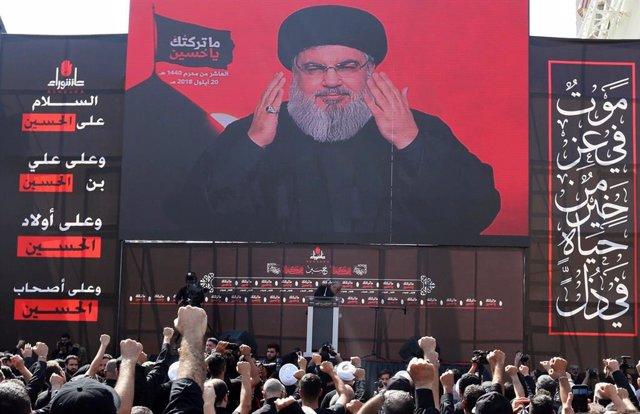 Hasán Nasralá, líder de Hezbolá