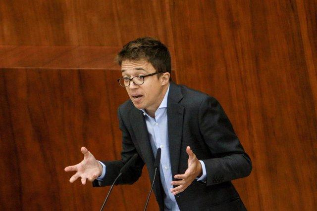 Imatge d'arxiu del portaveu de Més Madrid a l'Assemblea de Madrid, Íñigo Errejón.