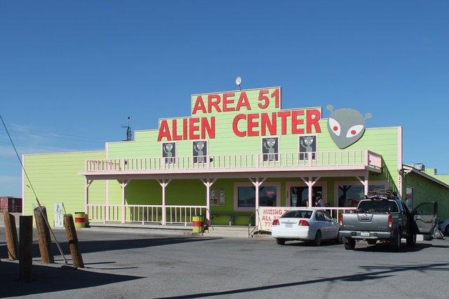 Alien Center en el desierto de Nevada (EEUU)