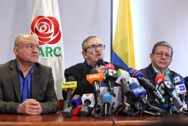 Dirigentes del partido político surgido de la extinta guerrilla de las FARC