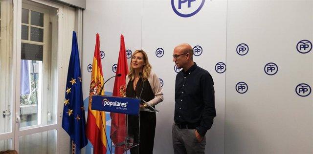 La presidenta del Partido Popular de Navarra, Ana Beltrán