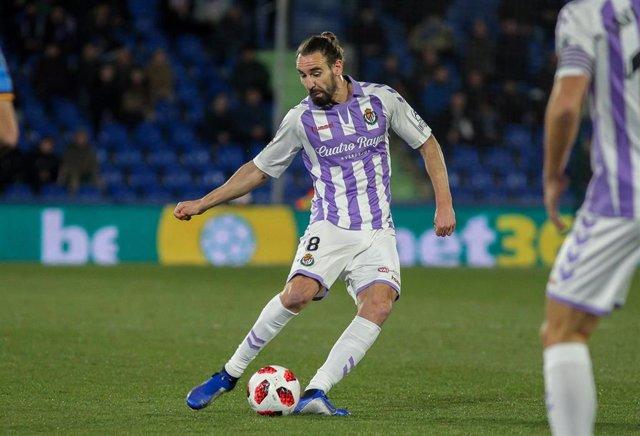 Borja Fernández, en un partido con el Real Valladolid.