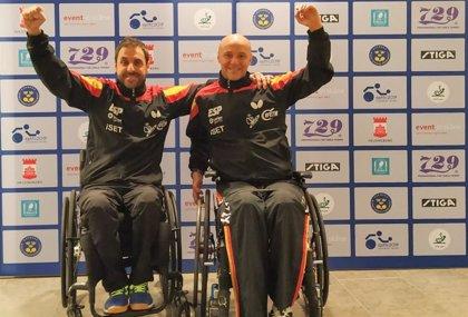 Iker Sastre y Miguel Ángel Toledo, en semifinales del Europeo de tenis de mesa paralímpico
