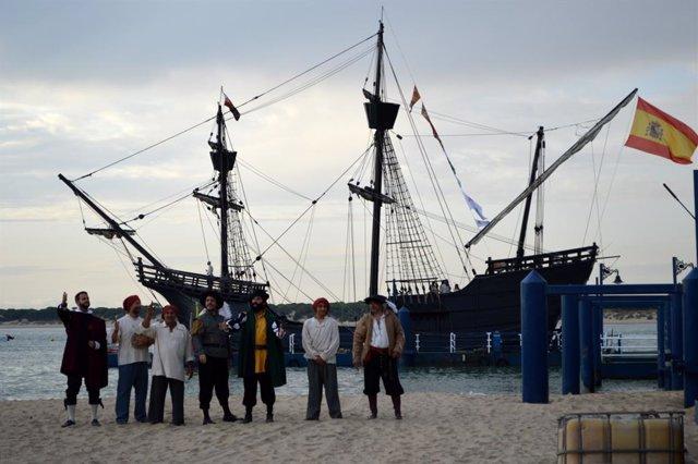 Embarque de la Nao Victoria para recrear la primera circunnavegación