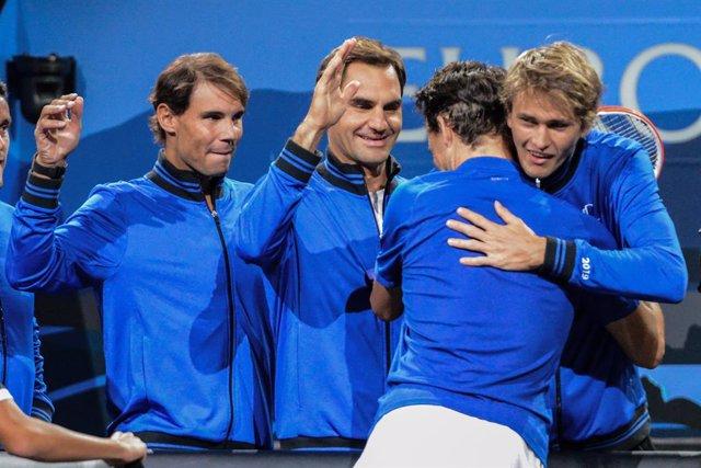 Tenis.- Federer y Zverev refuerzan la ventaja de Europa en la apertura de la Lav