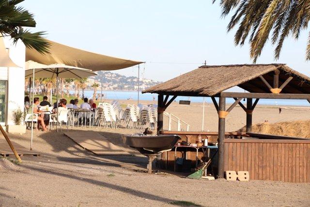 Terrassa, hamaca, estiu, turisme, turistes, platja