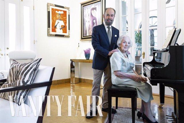María Elena de Cárdenas y Luis de la Vega, en Vanity Fair