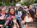 """La ministra Reyes Maroto asevera que el Gobierno """"no utiliza las instituciones"""" para hacer campaña electoral"""