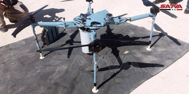 Dron con explosivos derribado en Siria, cerca de la frontera con Israel