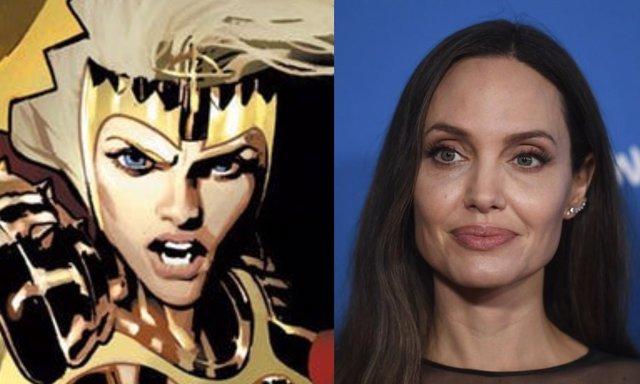 Thena en los cómics junto a Jolie