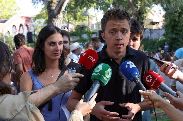 El portavoz de Más Madrid en la Asamblea, Íñigo Errejón,