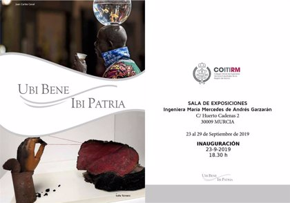 Sofía Tornero y Juan Carlos Caval inauguran este lunes en el COITIRM la muestra conjunta 'Ubi Bene, Ibi Patria'