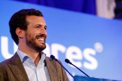 """Casado culpa a Sánchez de la repetición de elecciones y asegura que el PP """"es el antídoto contra el bloqueo"""""""