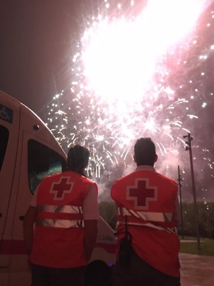 Cruz Roja realizó ayer 31 asistencias, 8 de ellas con traslado a centro hospitalario, en el segundo día de San Mateo