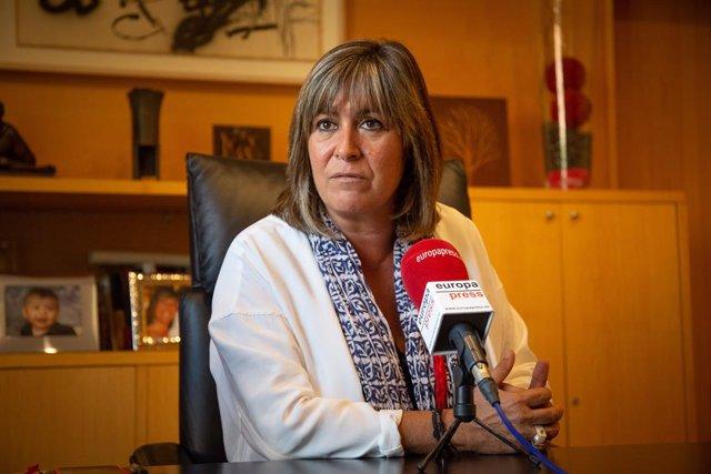 L'alcaldessa de L'Hospitalet i presidenta de la Diputació de Barcelona, Núria Marín, durant la seva entrevista amb Europa Press, Barcelona (Espanya), 18 de setembre del 2019.